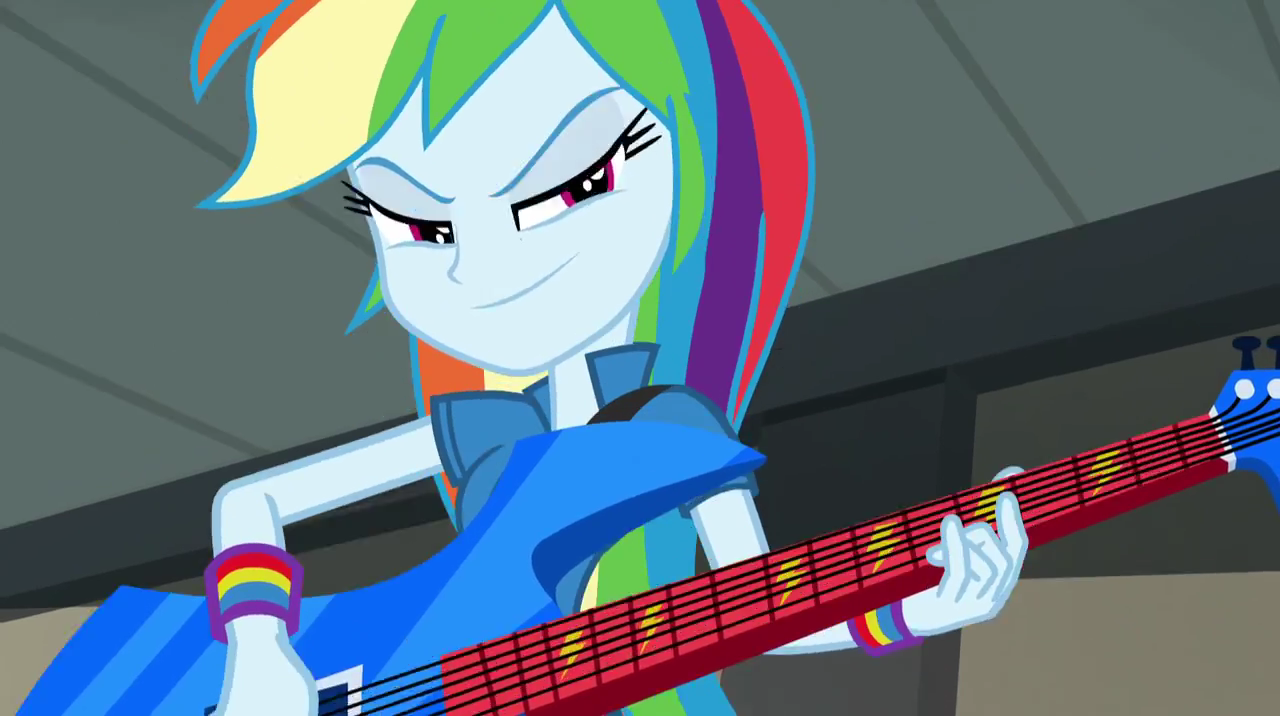 Rainbow Dash Plays Guitar Mlp Rainbow Dash Playing