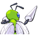 Beedrill DPPHGSS Shiny Back Sprite.png