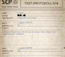 Test-Protokoll 914 - Teil 1