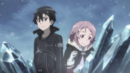 Kirito and Lisbeth at the top of the west mountain.png