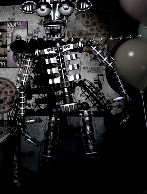 Image bare endoskeleton clean png five nights at freddy s wiki