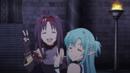 Asuna and Yuuki's victory gesture.png