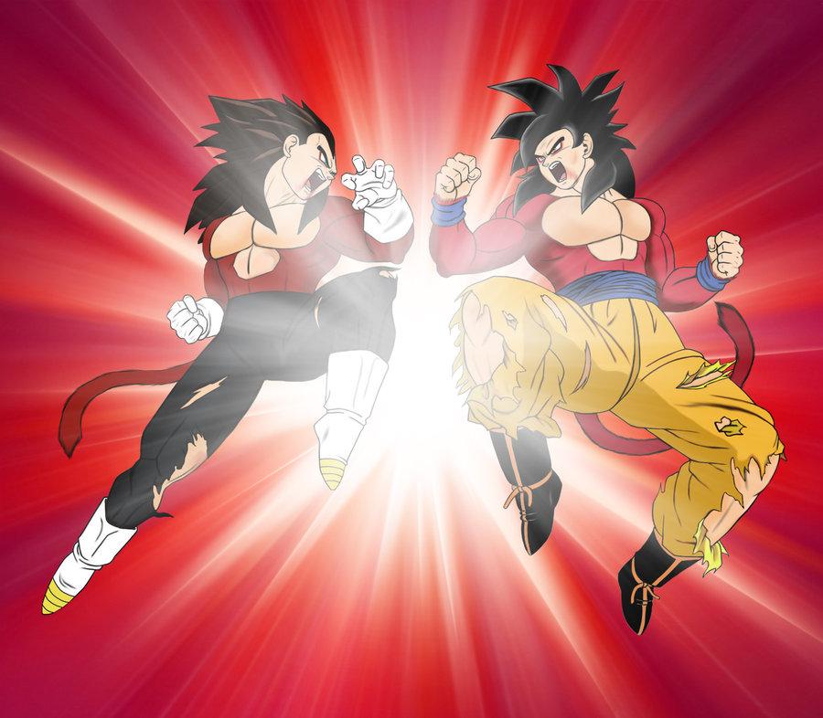 Goku Vs Vegeta Kamehameha Final Flash