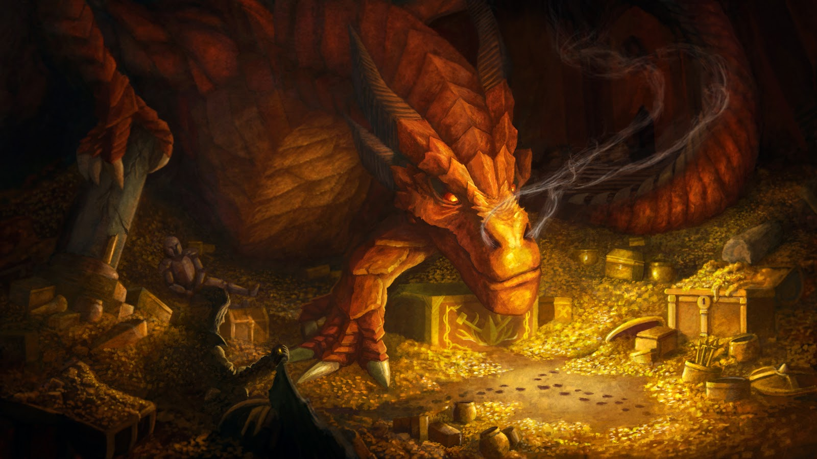 For Version As Of 0410 The Hobbit Desolation Smaug Dragon Wallpaper