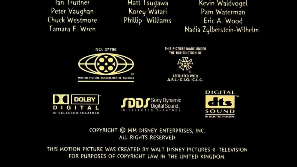 Mppa Credits: The Emperor's New Groove MPAA Credits.jpg