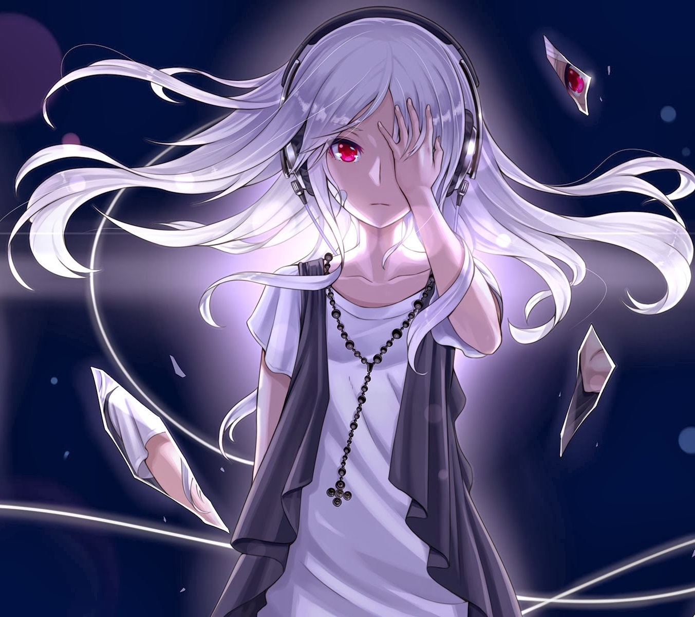 Anime Characters Red Eyes : The gallery for gt anime girl with long white hair