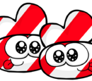 Candycane Striped Bunny Slippers