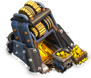 The Gold Mine produces gold. Upgrade it to boost its production and