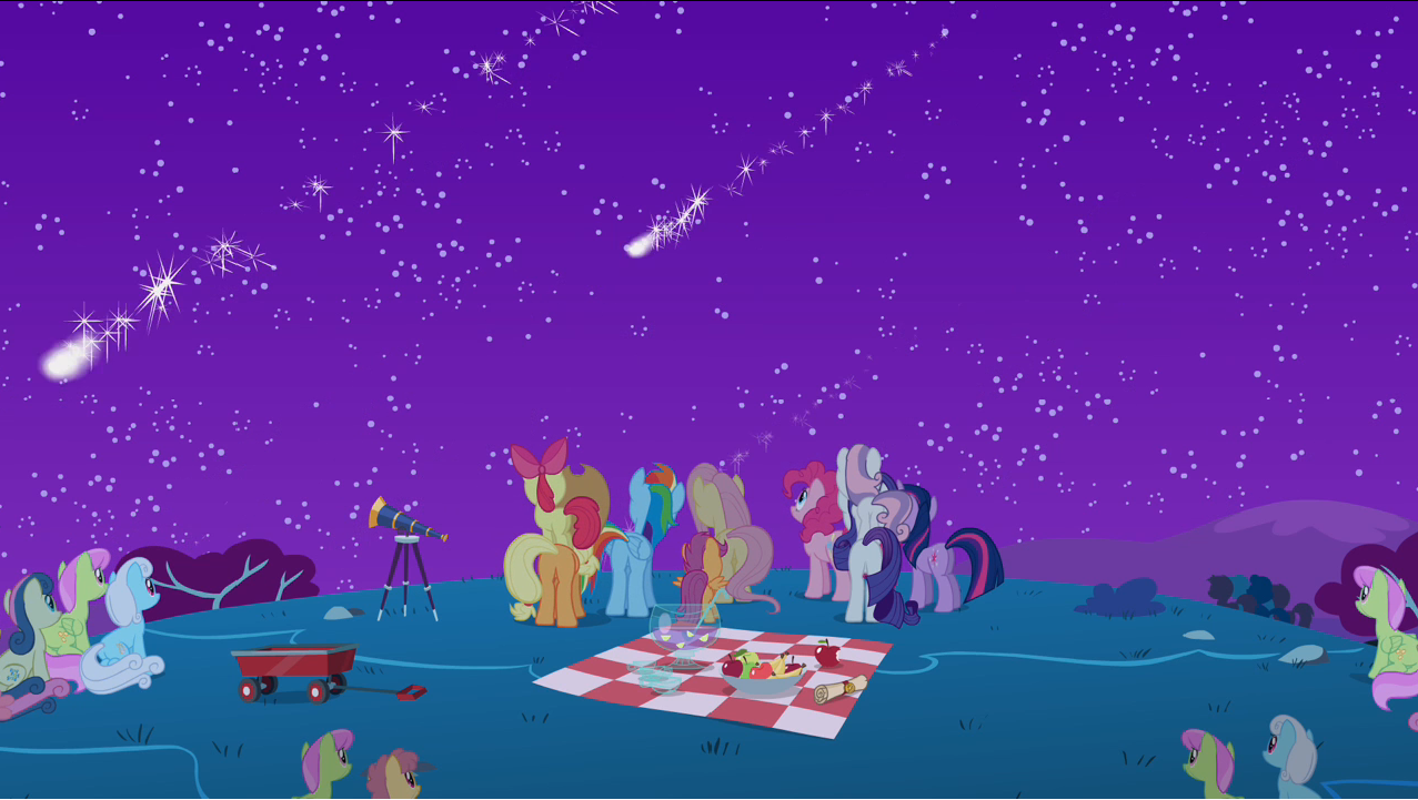 Image Ponies Watching The Rest Of The Meteor Shower