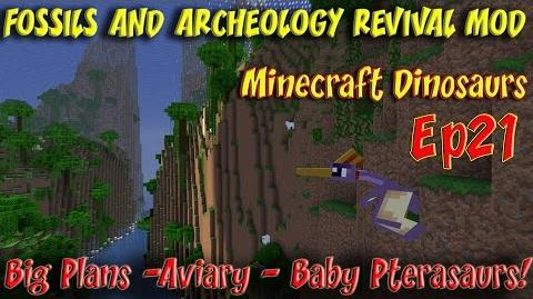 Fossils and Archeology Revival Mod Minecraft Jurassic World Ep21 Big Plans Pterosaurs Plesiosaurs