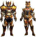 MH4U-Tigrex Rare Relic Armor (Blademaster) Render 001.png
