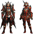 MH4U-Rathalos Rare Relic Armor (Blademaster) Render 001.png