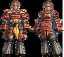 MH4U-Kut-Ku Armor (Blademaster) Render 001.png