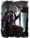 Aegon the Conqueror crowned by the High Septon by Michael Komarck©.png