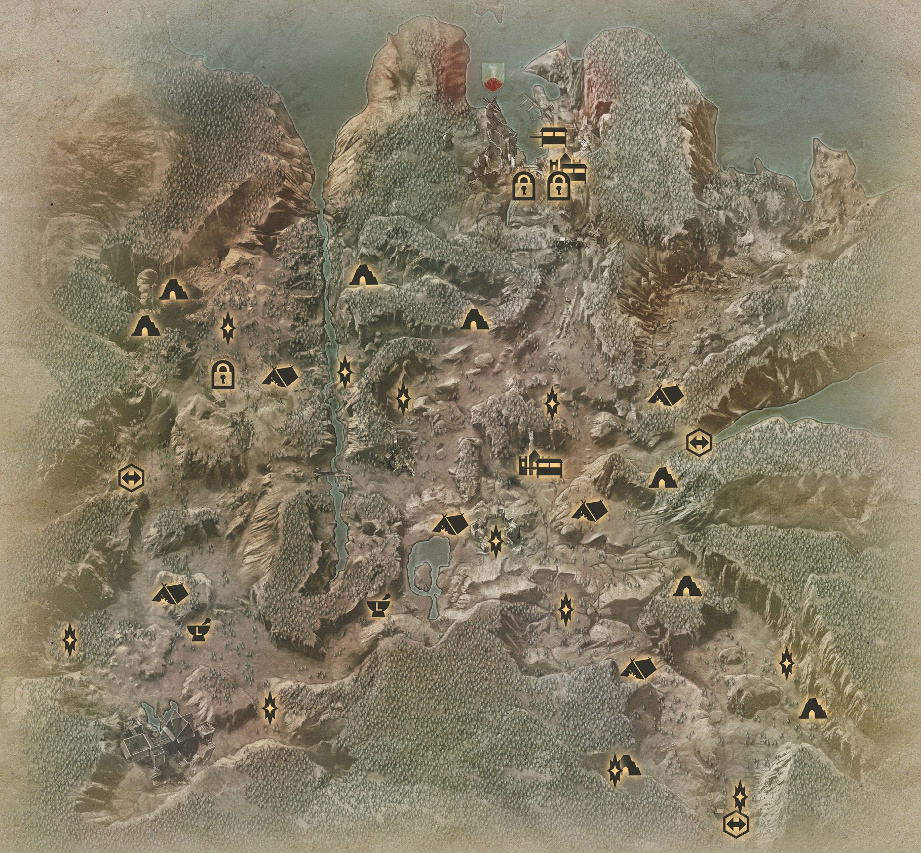 Map of the hinterlands in inquisition