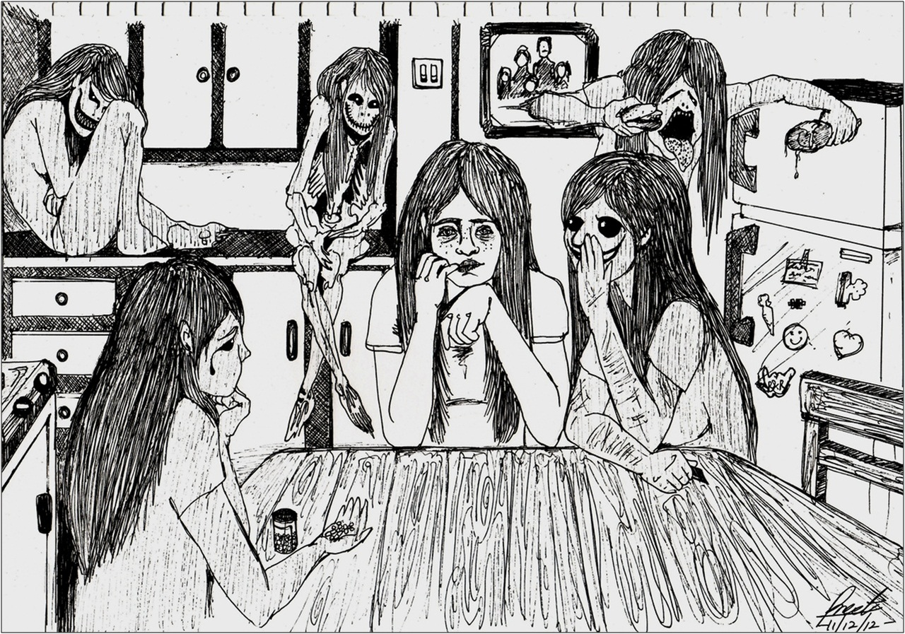 Images For > Drawings Of Depression Tumblr