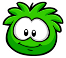 Green Puffle Pin