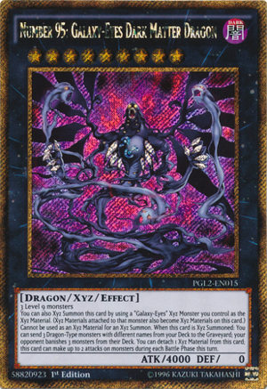Number 95  Galaxy-eyes Dark Matter Dragon - Yu-gi-oh
