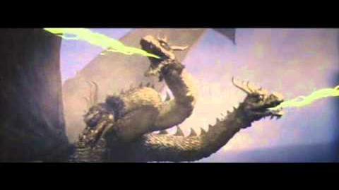 Showa King Ghidorah Roars