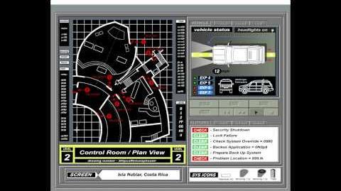 Jurassic Park Computer System Screensaver