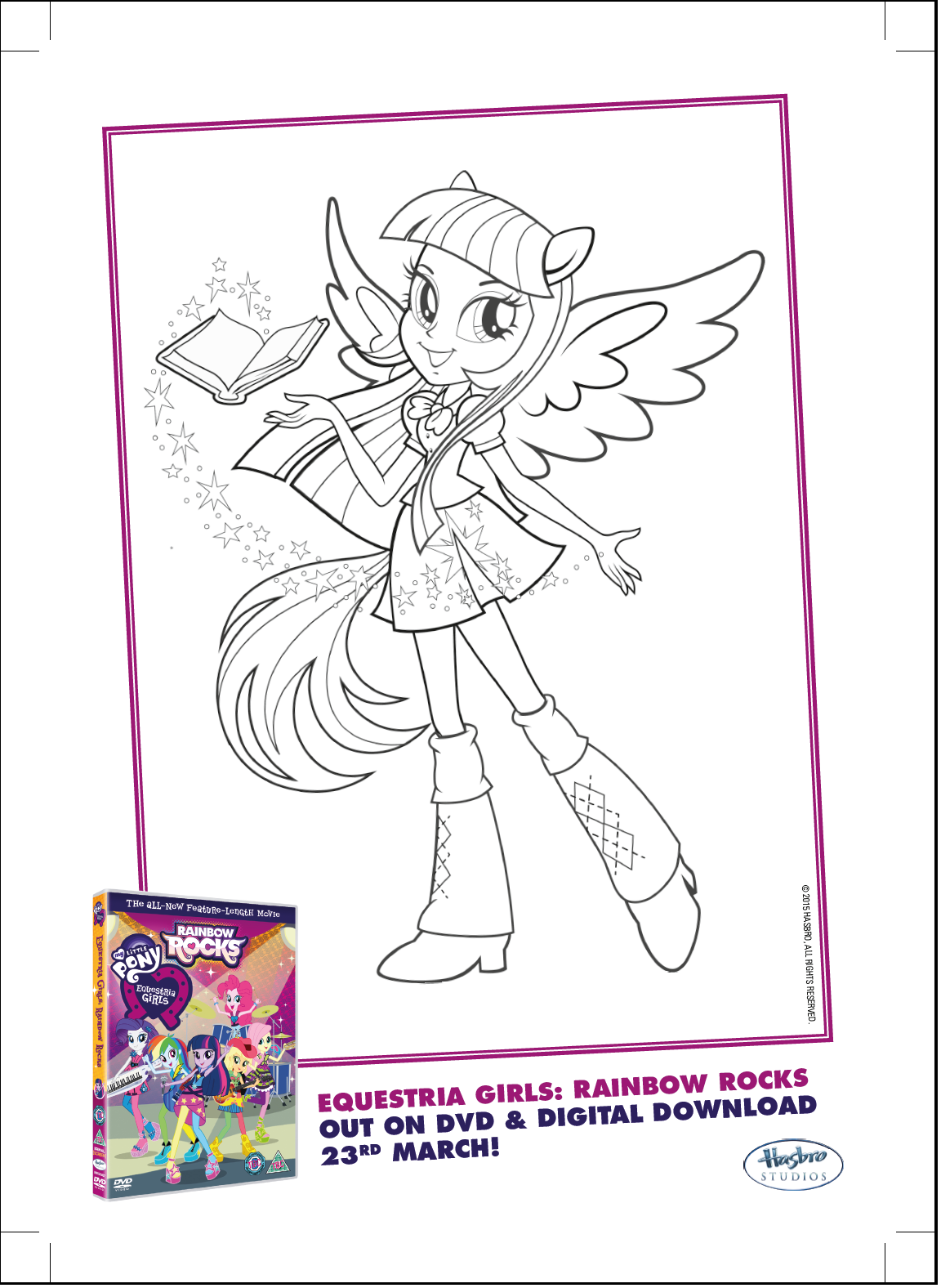 Image twilight sparkle rainbow rocks coloring for My little pony equestria girls rainbow rocks coloring pages
