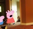 Peppa and George go to Braden's House