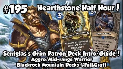 Hearthstone Senfglas Grim Patron Warrior Deck Guide Intro! HSHH 195