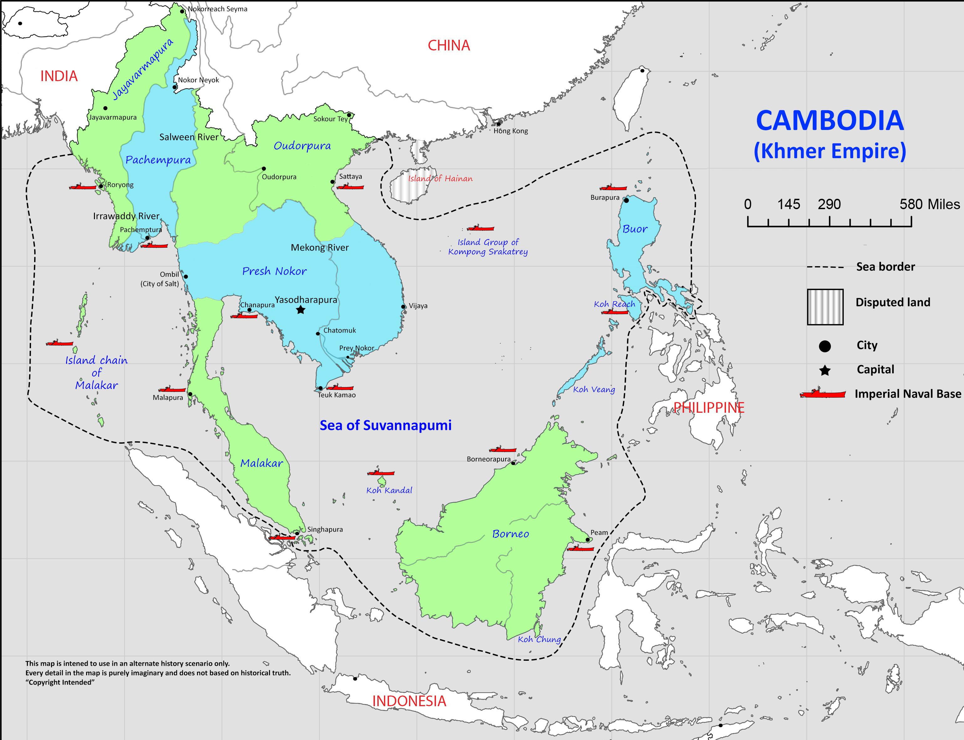 Khmer Empire Map ah The Great Khmer Empire