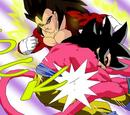 Vegeta SS4 vs Son Goku SS4