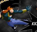 Gohan, Goku y Vegeta vs Súper A-17, Omega Shenron y Célula