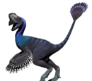 Owiraptor - skórka Blue Jewel