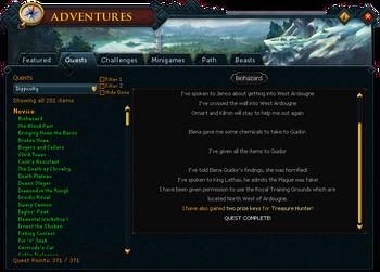reward quests runescape