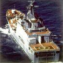 Quarter view of a Soviet Ivan Rogov class ship.JPEG