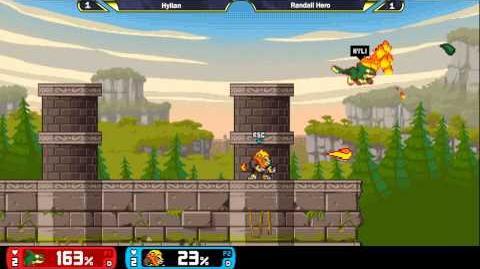 Rivals Of Aether Evo 2015 Invitational Hylian (Orcane) vs Randall Hero (Zetterburn) ALPHA GAMEPLAY