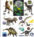 JURASSIC WORLD 2015 VENDING STICKERS COMPLETE SET OF 10 2.jpg