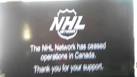 NHL Network (Canada) Shut Down Notice Screen