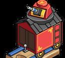 Red Blaster Railcar