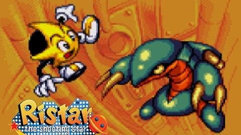 Ristar - Round 3 Planet Scorch Gameplay
