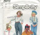 Simplicity 7012 B
