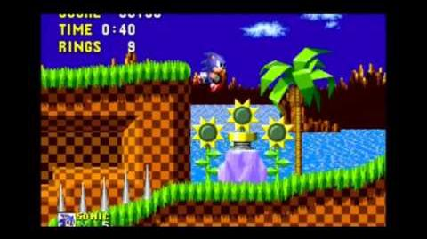 Glitch de animación de salto de Sonic