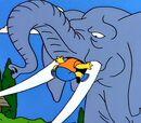 Bart gewinnt Elefant!