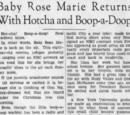 Baby Rose Marie Returns With Hotcha and Boop-a-Doop