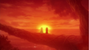 Young Zera and Mavis watch the sunset.png