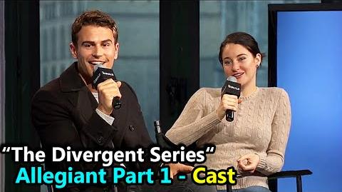 "The Divergent Series ""ALLEGIANT"" Shailene Woodley & Theo James Interview March 14th, 2016"
