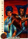 Mariko Yashida & James Howlett (Earth-616) from 1996 Fleer X-Men (Trading Cards) 0001.jpg