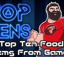 Top Ten Food Items in Games