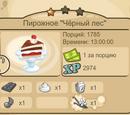 """Пирожное """"Чёрный лес"""""""