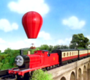 James and the Big Red Balloon