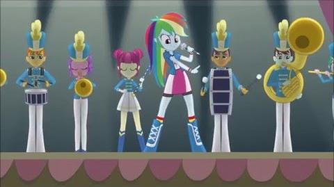 MLP Equestria Girls (Friendship Games) - CHS Rally Song GERMAN