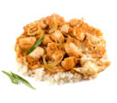 Оякодон (японский омлет с рисом и курицей)